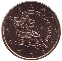 Монета 10 центов. 2014 год, Кипр.