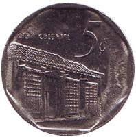 Монета 5 сентаво. 2008 год, Куба. (Вар. II)