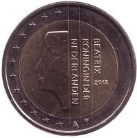 Монета 2 евро. 2012 год, Нидерланды.