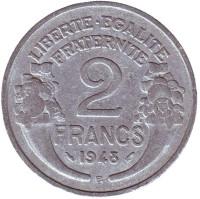 2 франка. 1948-В год, Франция.