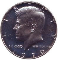 Джон Кеннеди. Монета 50 центов. 1970 год (S), США.
