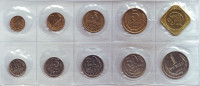 Годовой набор монет СССР 1989 года, с жетоном. В запайке.