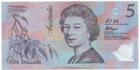 "Банкнота 5 долларов. 1992 год, Австралия. (Серия ""AA"")"