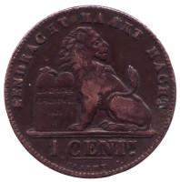Монета 1 сантим. 1899 год, Бельгия. (Der Belgen)