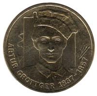 Артур Гротгер. Монета 2 злотых, 2010 год, Польша.