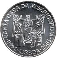 500 лет Церкви Милосердия. Монета 1000 эскудо, 1998 год, Португалия.