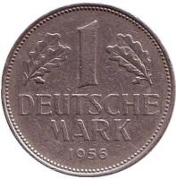 Монета 1 марка. 1956 год (D), ФРГ.