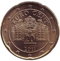 Монета 20 центов, 2011 год, Австрия.