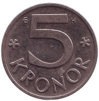 Монета 5 крон. 2003 год, Швеция.