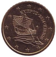 Монета 50 центов. 2014 год, Кипр.