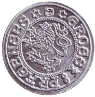 Пражский грош. Ботаникус Остра. Сувенирный жетон, Чехия.