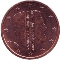 Монета 2 цента. 2016 год, Нидерланды.