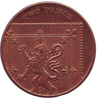 Монета 2 пенса. 2010 год, Великобритания.