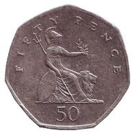 Монета 50 пенсов. 1998 год, Великобритания.