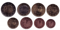 Набор монет евро (8 шт). 2018 год, Испания.