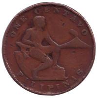 Монета 1 сентаво. 1940 год, Филиппины.