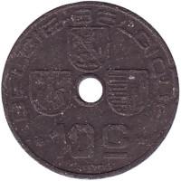10 сантимов. 1942 год, Бельгия (Belgie-Blgique).