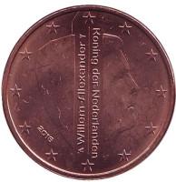 Монета 5 евроцентов. 2016 год, Нидерланды.