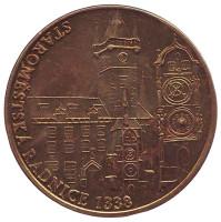 Старомнестская ратуша. Прага. Сувенирный жетон, Чехия.