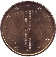 Монета 10 евроцентов. 2016 год, Нидерланды.