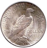 Доллар мира. Монета 1 доллар. 1922 год, США. (Без отметки монетного двора). XF-UNC.