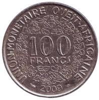 Монета 100 франков. 2009 год, Западные Африканские Штаты.