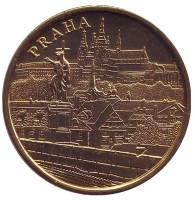 Прага. Карлов мост. Собор Святого Вита. Сувенирный жетон, Чехия.