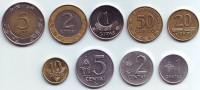 Набор монет Литвы (9 шт). 1991-2009 гг., Литва.