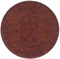 Монета 1 цент. 1920 год, Нидерландская Индия.