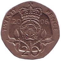 Монета 20 пенсов. 2006 год, Великобритания.