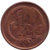 Карликовый летучий кускус. Монета 1 цент, 1989 год, Австралия.