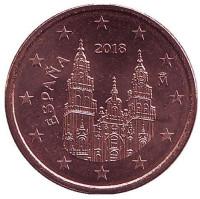 Монета 5 центов. 2018 год, Испания.