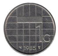 Монета 1 гульден. 1985 год, Нидерланды.
