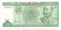 Антонио Масео. Банкнота 5 песо. 2009 год, Куба.