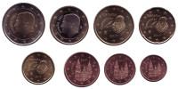 Набор монет евро (8 шт). 2017 год, Испания.
