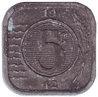 Монета 5 центов. 1942 год, Нидерланды.