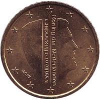 Монета 50 евроцентов. 2016 год, Нидерланды.