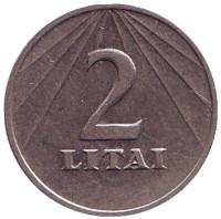 Монета 2 лита. 1991 год, Литва.