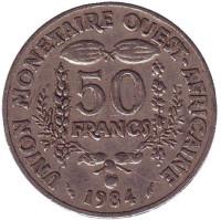Монета 50 франков. 1984 год, Западные Африканские штаты.