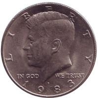 Джон Кеннеди. Монета 50 центов. 1983 год (P), США.