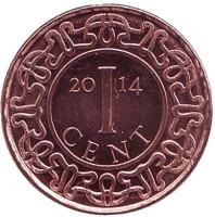 Монета 1 цент. 2014 год, Суринам. UNC.