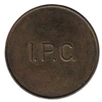 I.P.C. (Inepro Paymatic Company). Жетон для оплаты душа или прачечной. (С точками)
