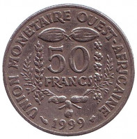 Монета 50 франков. 1999 год, Западные Африканские штаты.