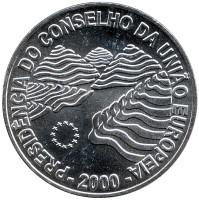 Председательство Португалии в совете ЕС. Монета 1000 эскудо, 2000 год, Португалия.