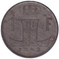 1 франк. 1943 год, Бельгия. (Belgie-Belgique)