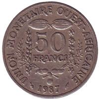 Монета 50 франков. 1987 год, Западные Африканские штаты.
