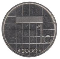 Монета 1 гульден. 2000 год, Нидерланды.