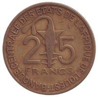 Монета 25 франков. 1971 год, Западные Африканские Штаты.
