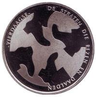 2000 лет Неймегену. Марш 4 дней. Памятный жетон. 1 крона, 2005 год, Нидерланды.