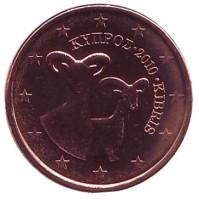 Монета 1 цент. 2010 год, Кипр.